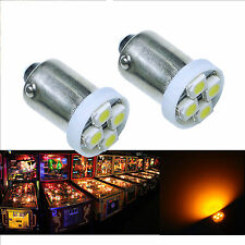 30x #1893 #44 #47 #1847 BA9S 4SMD LED Pinball Machine Light Bulb Yellow 6.3V P2