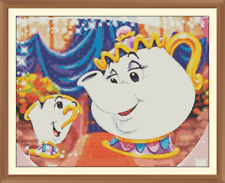 Mrs potts and chip Disney Cross Stitch Chart 12.0 x 9.4 inches.
