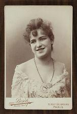 Marion Delorme, Actrice de théâtre, Cabinet card, Photo Van Bosch Paris