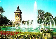 Mannheim , Wasserspiele mit Wasserturm, Ansichtskarte, 1977 gelaufen