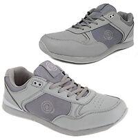 """Dek Mens """"Jack"""" Bowling Shoes Grey Lawn Bowls Trainers Lace Up"""