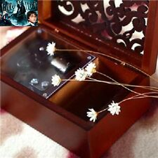 Rectangle Wood Carving Jewelry  Wind Up Music Box : Harry Potter Hedwig's Theme