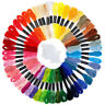 BH_ 50 Skeins Rainbow Color Embroidery Thread Cross Stitch Floss with 12 Bobbins