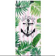 Victoria's Secret Beach Towel Pool Summer New Light Pink Black Anchor Nautical