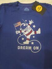 LIFE IS GOOD NWT Astronaut Dream On Boys Blue SS TShirt NEW Size M Medium 7 8