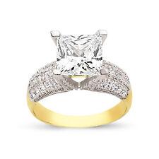 9CT GOLD LADIES CUBIC ZIRCONIA CZ BOMBAY ETERNITY BAND WEDDING RING GIFT BOX