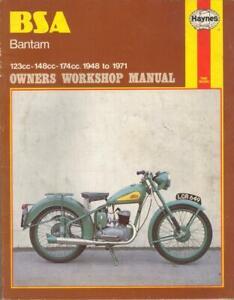 BSA BANTAM,D175,D14/4,D10,D7,D5,D3,D1,DE LUXE,BUSHMAN HAYNES MANUAL 1948-1971