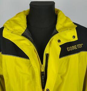 GORE BIKE WEAR Mens Gore-Tex Cycling Jacket Yellow Black Zip Up Size XL
