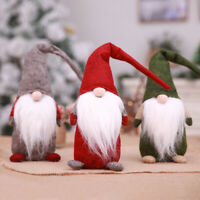 Christmas Faceless Gnome Santa Claus Doll Ornaments Kids Gift Home Party Decor