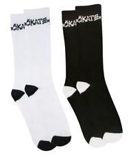 Thrasher Magazine Skate And Destroy White & Black Crew Socks (2-Pack) Supreme