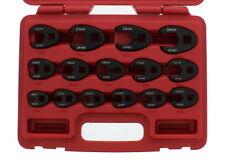 ABN Jumbo Crowfoot Flare Nut Wrench Metric Set 3/8 & 1/2 Drive Ratchet, 15 Piece