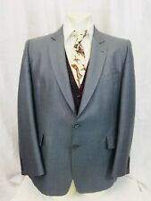 Hardy Amies Sportcoat Blazer Jacket Hudsons Bay Mens 44R Gray Wool Blend