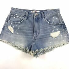 New Hollister Womens High Rise Festival Shorts Sz 27 Frayed Distressed