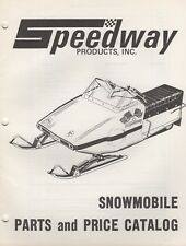 1972 SPEEDWAY SNOWMOBILE PARTS MANUAL P/N 11230 (173)