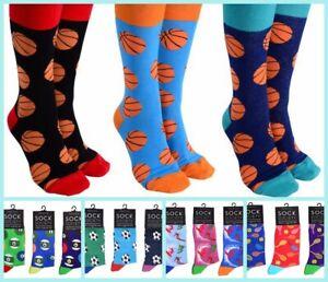 Sock Society SPORT Novelty Cotton Men Women Gift Fancy Happy Socks SIZE 7-14_B