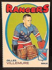 GILLES VILLEMURE 1971-72 Topps Hockey OddBaLL ERROR Miscut SP Card #18 RANGERS