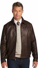 Mens Original Modern fashion Classic Brown Genuine Lambskin Leather Jacket MA538