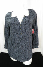 Top Blouse Womens Size-Small (4-6) FADED GLORY Peasant Floral Paisley NWT Small