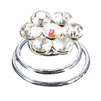 12Pcs Crystal Wedding Bridal Hair Pins Twists Coils Flower Swirl Spiral Hai A6B5