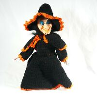 Vintage Crochet Scary Witch Spooky Sound Halloween Handmade Decor
