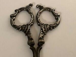 Vintage Sterling Silver Handles Fingernail Scissors
