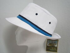 New M Poplin Rain / Sun Golf Hat - water repellent! White