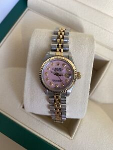 Ladies Rolex Datejust Diamond Dial Box And Papers
