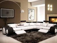 Contemporary Italian Design White & Black Franco Modern Sectional Designer Sofa