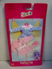 Stacie Sister of Barbie Feeling Fun Fashions Night Gown Robe Accessories NEW