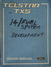 Genuine Ford Telstar TX5 WORKSHOP/SERVICE, REPAIR MANUAL  1982