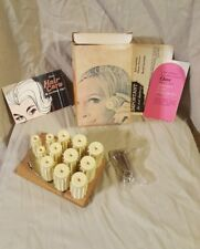 Vintage 1968 Oster Heat n' Curl Instant Hair Curlers Rollers Set in Box Vtg 60s