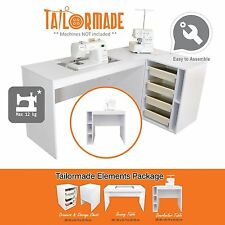 Sewing Machine Cabinet Desk Overlocker Serger Table - Janome Singer Brother Elna