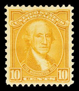 Scott 715 1932 10c Orange Yellow Washington Issue Mint VF OG NH Cat $15