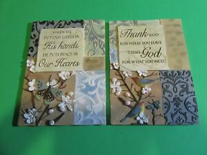Lot Of 2 New View ~ Ceramic Wall Plaque ~ Religious
