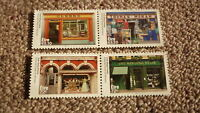 2016 IRELAND POST MINT STAMPS, IRELAND SHOPFRONTS ISSUE SET OF 4 STAMPS MNH