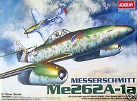 12410 Academy 1/72 Scale Plastic Model Kit Messerschmitt Me262A-1a Airfix