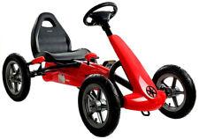 Kinder Go Kart Red Speed Racer Superfast Tretauto Gokart Luftreifen 5-12 Jahre