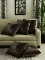 Set of 5 Cushion Cover Embroidery Velvet Pillow Cushion Cover Ethnic Home Decor