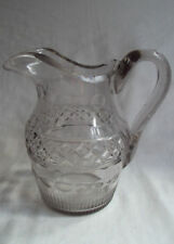 Clear Georgian Crystal Date-Lined Glass