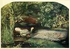 A4 Photo Millais John E 1829 1896 History of Painting 1900 Ophelia Print Poster