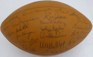 1969 Packers Team Autographed Signed Football 50 Sigs Bart Starr PSA AE04869