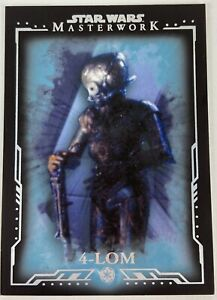 STAR WARS 2015 TOPPS MASTERWORK 70 4-LOM BLUE PARALLEL BASE CARD /299