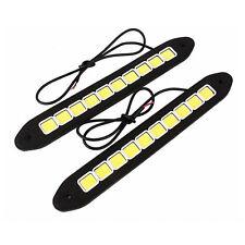 2pcs 26cm 12V LED Car Styling Daytime Running Day COB Auto DRL Fog Light Lamp