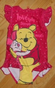 schöner Badeanzug  Disney Winnieh Pooh  mit UV-Schutz  Größe 86