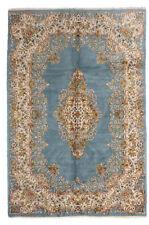 echter Perserteppich Kerman hangeknüpft Sammler 2,83 x 1,78 m hellblau Spiegel