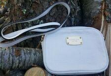 MICHAEL KORS Hamilton Small White Pebbled Leather Crossbody Bag 35T1GHMC1L