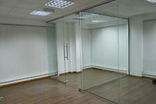 More details for glass office partition system 10mm toughened glass 2440mm high x 900mm wide