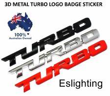 Car 3D Metal Turbo Logo Badge Emblem Sticker Decal Decor Red/Silver/Black for