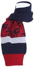 Prezzo 2 GO! D&G DOLCE GABBANA misto lana LJ3049 Piccolo Logo Sciarpa Navy Blu Grigio