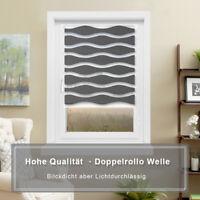 Doppelrollo Welle Klemmfix ohne Bohren Seitenzug Easyfix Duorollos Fenster Tür